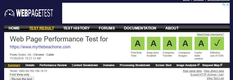 Fase Web Hosting Performance Test