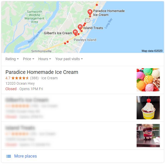 ice cream pawleys island
